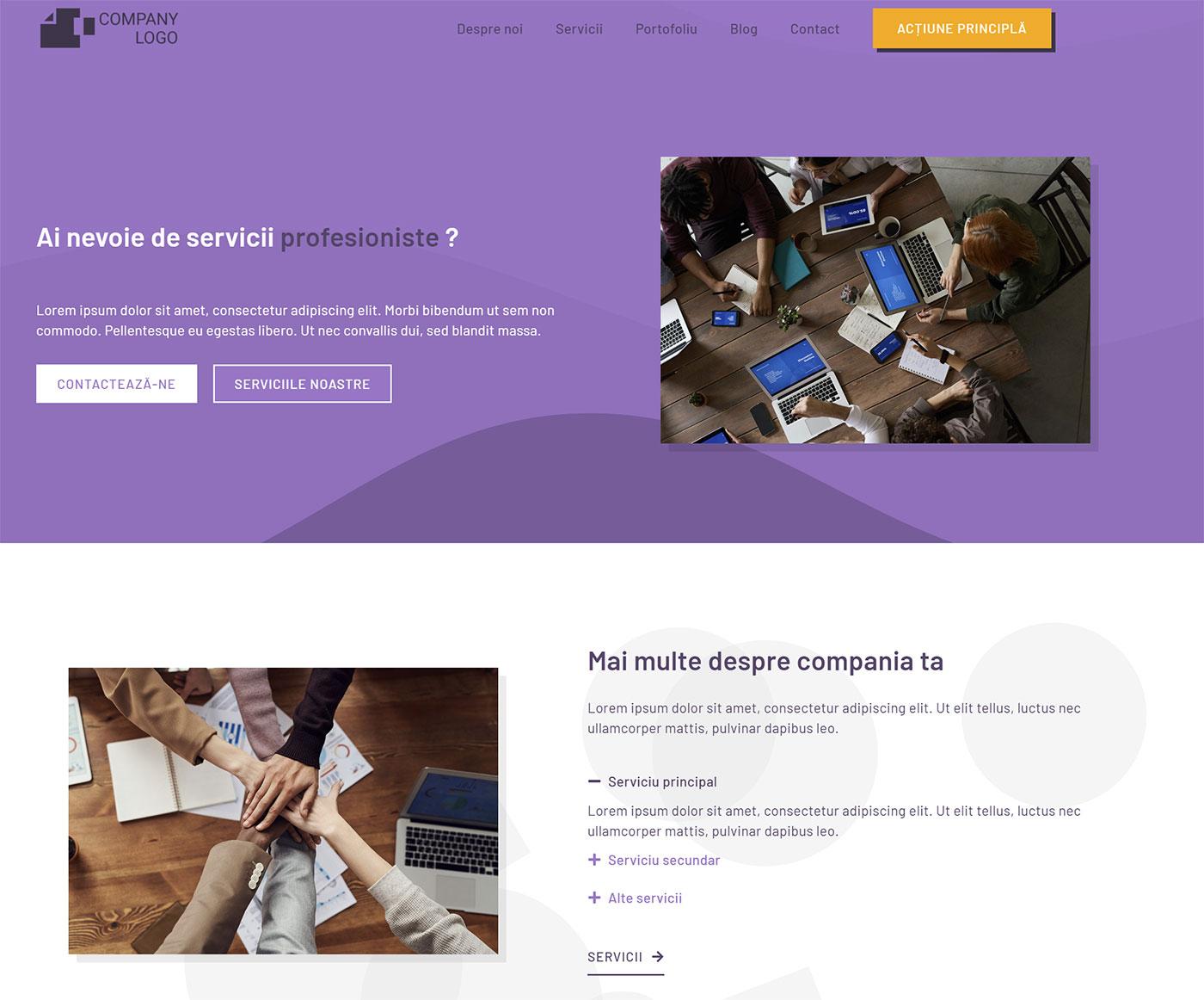 demo site template sablon